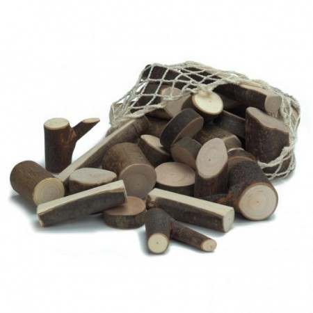 Wooden toys - tree branch pieces